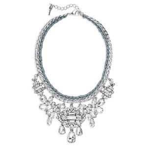 Chloe + Isabel Deco Crystal Cluster Drama Necklace